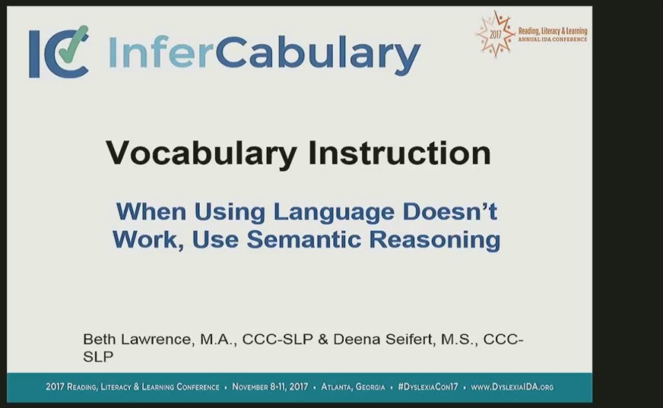 Vocabulary Instruction When Using Language Doesnt Work Use