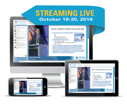 Streaming Live October 18-20, 2018